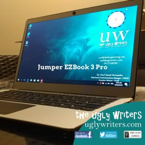 Jumper EZBook 3 Pro the ugly writers