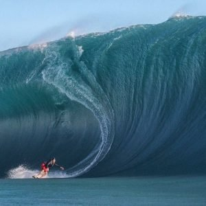Surfing = big wave Mavericks
