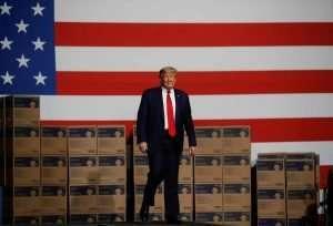 trump in red suit